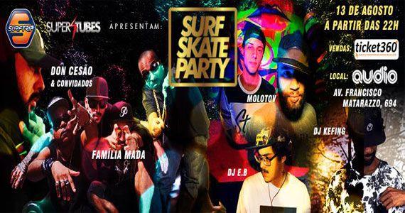 Audio recebe Surf Skate Party com Família Madá e DonCesão Eventos BaresSP 570x300 imagem
