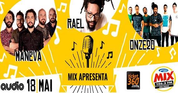 2ª edição da Mix Apresenta reúne Maneva, Onze:20 e Rael na Audio Eventos BaresSP 570x300 imagem