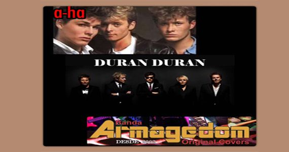 Banda Armagedom apresenta Tribute A-ha, Cover Duran Duran e o Pop & Rock variado no Wild Horse Music Bar Eventos BaresSP 570x300 imagem