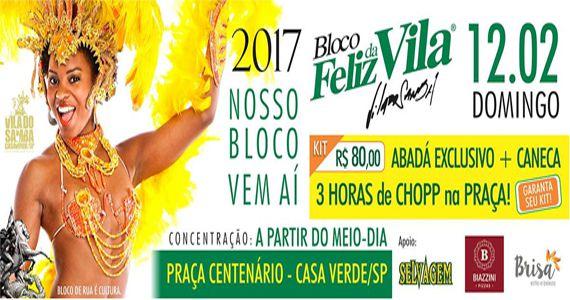 Pré carnaval 2017 com o bloco Feliz da Vila desfilando pela Casa Verde Eventos BaresSP 570x300 imagem