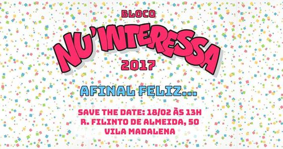 Vila Madalena recebe a 13ª edição do carnaval paulista do Bloco Nu'Interessa Eventos BaresSP 570x300 imagem