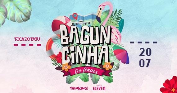 Festa Baguncinha de Férias com MC Matheuzinho, Fun7 e Camila Peixoto no Toca do Tatu Eventos BaresSP 570x300 imagem