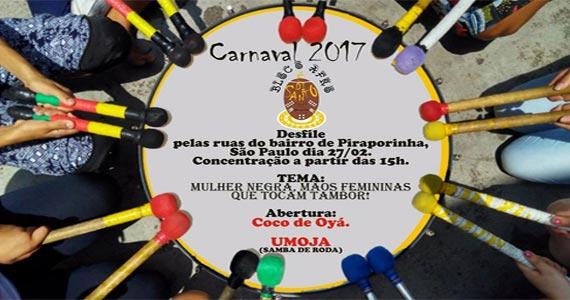 Bloco Afro É Di Santo é um desfile para quem gosta de dançar um bom coco de roda em Pirapórinha Eventos BaresSP 570x300 imagem