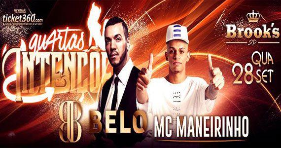 Belo e MC Maneirinho se apresentam no projeto Quartas Intenções da Brook's SP Eventos BaresSP 570x300 imagem