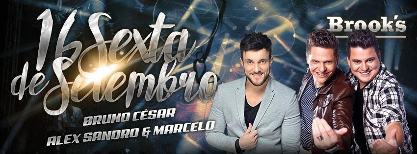 O sertanejo universitário do cantor Bruno Cesar e da dupla Alex Sandro & Marcelo animam a noite paulista Eventos BaresSP 570x300 imagem