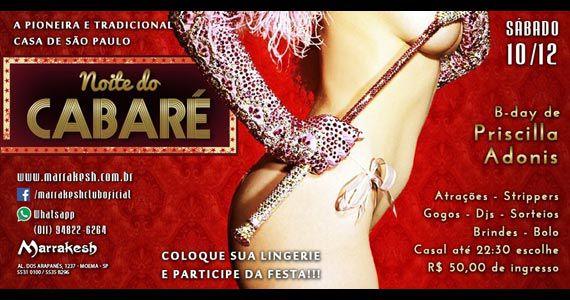 Noite do Cabaré com atrações especiais no Marrakesh Club Eventos BaresSP 570x300 imagem