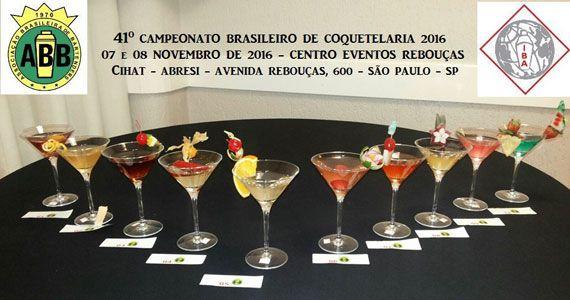 41º Campeonato Brasileiro de Coquetelaria 2016 no Centro de Convenções Rebouças Eventos BaresSP 570x300 imagem