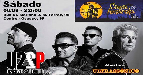 Banda U2 cover comanda o sábado com pop rock no Casa Amarela Pub Eventos BaresSP 570x300 imagem