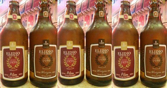 Cerveja artesanal Pilsen e Trigo como sugestão no cardápio do Elidio Bar Eventos BaresSP 570x300 imagem