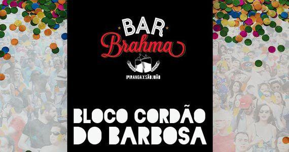 Bloco Cordão do Barbosa anima o Esquenta de Carnaval no Bar Brahma Centro Eventos BaresSP 570x300 imagem