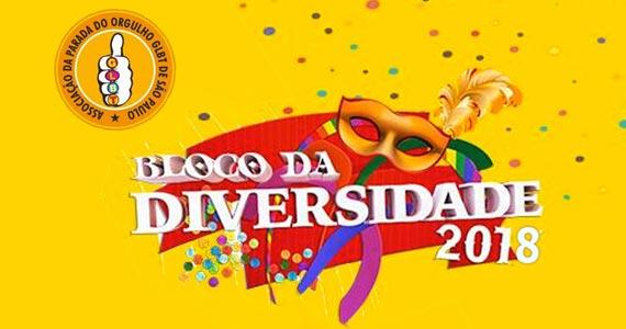 Bloco da Diversidade faz desfile no largo do Arouche no Carnaval 2018 Eventos BaresSP 570x300 imagem