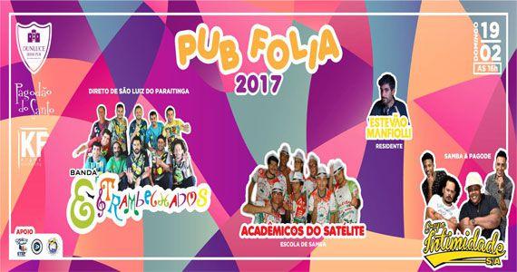Pré-carnaval com atrações especiais animando o domingo do Dunluce Pub Eventos BaresSP 570x300 imagem