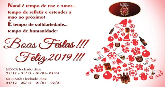 Elidio Bar Deseja Boas Festas E Feliz 2019