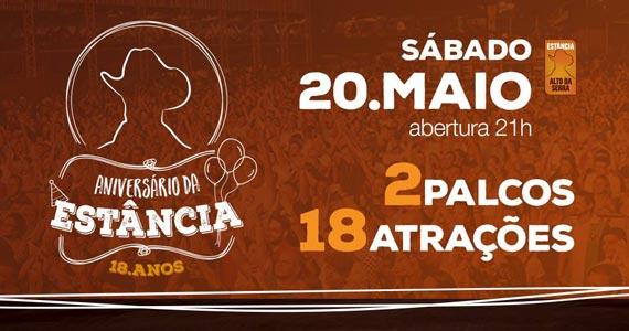 Estância Alto da Serra comemora 18 anos com 2 palcos e 18 atrações no sábado Eventos BaresSP 570x300 imagem