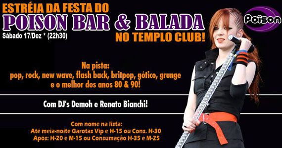 Festa de Estreia do Poison Bar e Balada no Templo Club Eventos BaresSP 570x300 imagem