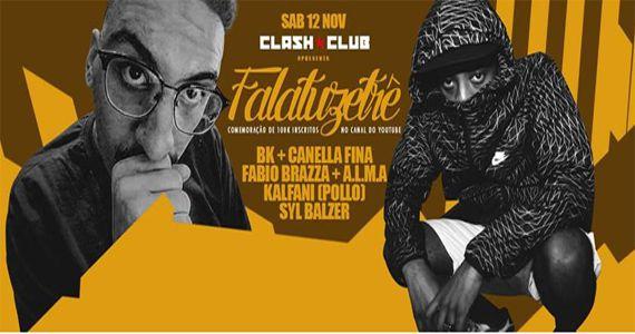 Falatuzetrê comemora 100k inscritos em seu canal no Youtube com mega festa na Clash Club  Eventos BaresSP 570x300 imagem