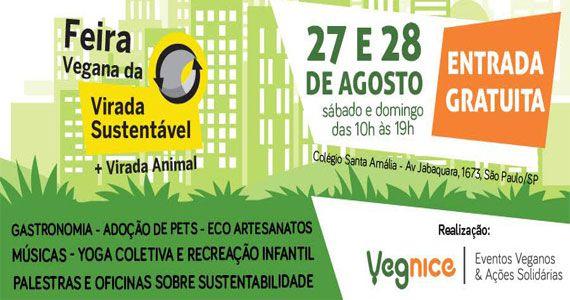 Feira Vegana da Virada Cultural acontece no colégio Santa Amália com comidas e atividades que promovem o veganismo  Eventos BaresSP 570x300 imagem