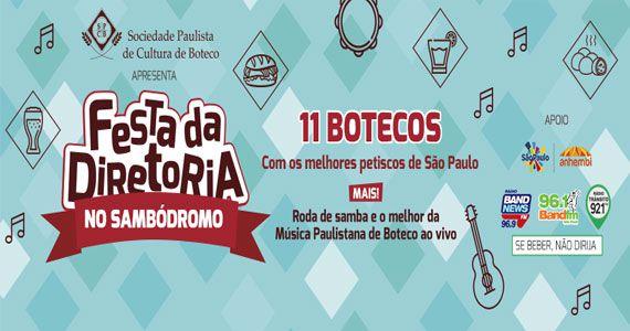 Festa da Diretoria reúne 11 botecos e muita Roda de Samba no Anhembi Eventos BaresSP 570x300 imagem