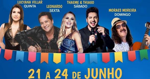 O Esporte Clube Pinheiros realiza Festa Junina com Thaeme e Thiano, Leonardo e outras atrações Eventos BaresSP 570x300 imagem