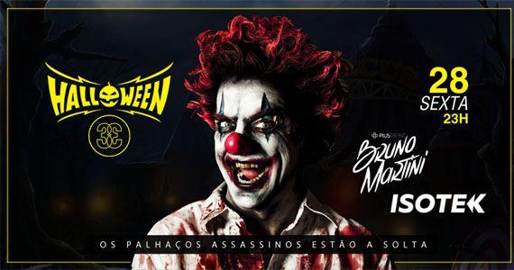 Os palhaços assassinos estão a solta no Club 33 com a Festa de Halloween Eventos BaresSP 570x300 imagem