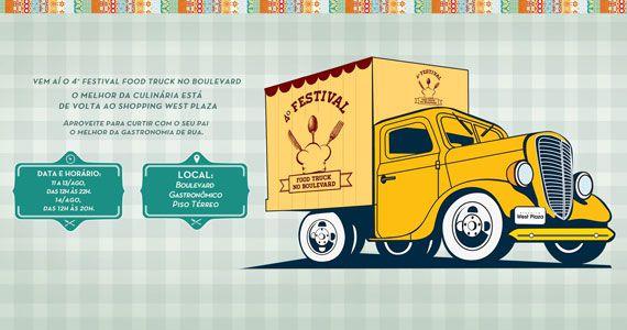 4º Festival Food Truck com música ao vivo no Shopping West Plaza Eventos BaresSP 570x300 imagem