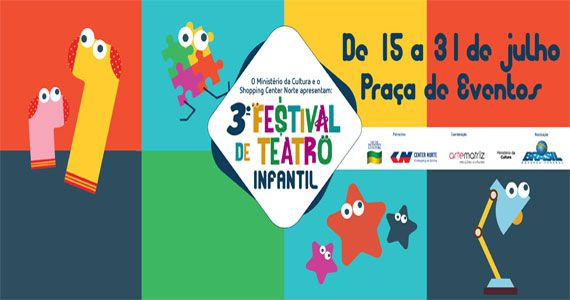 3º Festival de Teatro Infantil acontece em julho no Shopping Center Norte Eventos BaresSP 570x300 imagem