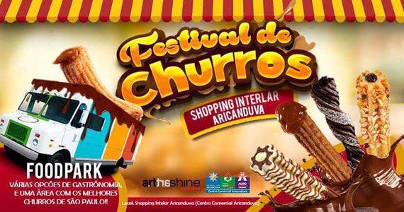 Shopping Arincanduva recebe Festival de Churros com entrada gratuita Eventos BaresSP 570x300 imagem