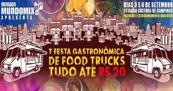 1ª Festa Gastronômica de Food Trucks tudo por até R$ 20 no Mercado Mundo Mix Eventos BaresSP 570x300 imagem