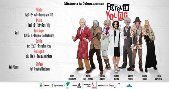 Musical Forever Young relembra clássicos do pop rock no palco do Teatro Raul Cortez Eventos BaresSP 570x300 imagem