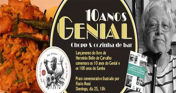 Aniversário de 10 anos do Bar Genial com lançamento de livro e nova receita no cardápio Eventos BaresSP 570x300 imagem