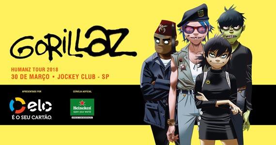Pela 1ª vez no Brasil, banda internacional Gorillaz faz show no Jockey Club de São Paulo