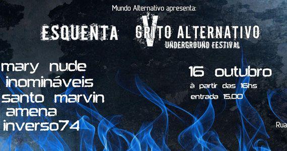 5º Grito Alternativo com bandas convidadas animando o Santo Rock Bar Eventos BaresSP 570x300 imagem