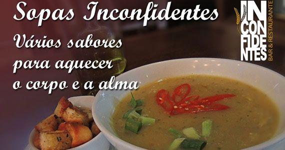 Eventos AgendaInconfidentes Bar oferece Buffet de Sopas, feijoada, happy hour e futebol na Vila Mariana BaresSP