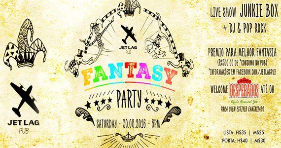 Fantasy Party com show da banda Junkie Box no Jet Lag Pub Eventos BaresSP 570x300 imagem