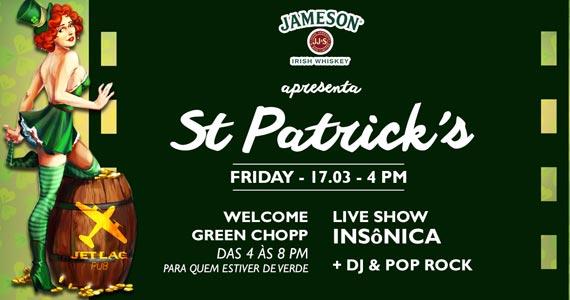 Festa de St. Patricks Day do Jet Lag Pub ao som da banda Insônica Eventos BaresSP 570x300 imagem
