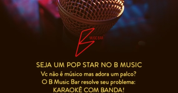 Karaoke Rock Star com muito pop rock no B Music Bar com muito pop rock BaresSP