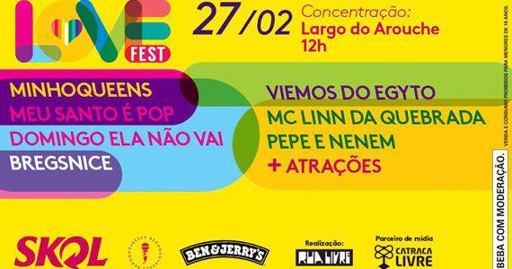 Love Fest com 8 blocos de carnaval, show de Pepe & Nenem, MC Linn da Quebrada e casamento gay durante a folia na Praça da República Eventos BaresSP 570x300 imagem