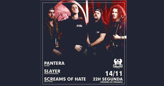 Véspera de feriado tem no Pantera Vulgar, Slayer e Screams of Hate no Manifesto Bar Eventos BaresSP 570x300 imagem