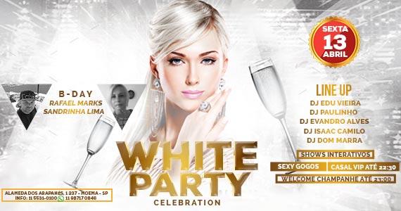 White Party com line-up especial com DJs convidados no Marrakesh Club