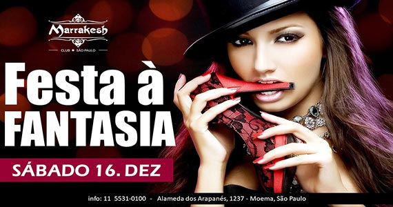 Festa à Fantasia comanda o sábado com muito swing no Marrakesh Club