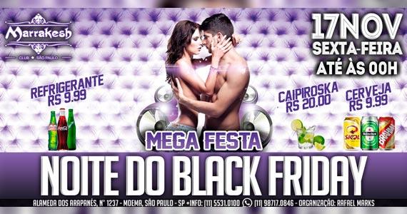 Noite do Black Friday acontece nesta sexta-feira no Marrakesh Club