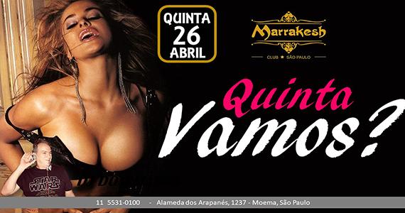 Quinta Vamos? com muito erotismo e sensualidade no Marrakesh Club
