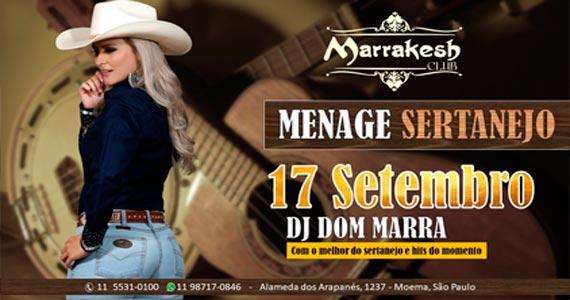 Marrakesh Club recebe o Menage Sertanejo para agitar o domingo