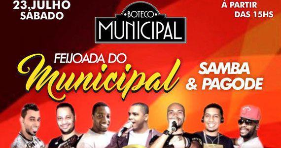Boteco Municipal oferece feijoada com o melhor do samba e pagode sábado Eventos BaresSP 570x300 imagem