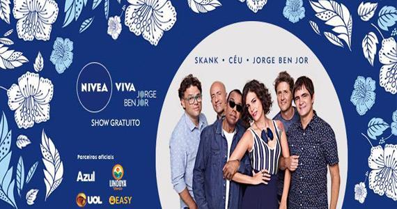 Skank, Céu e Jorge Ben Jor no projeto Nivea Viva na Praça Heróis da FEB Eventos BaresSP 570x300 imagem