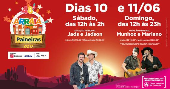 Festa Junina do Clube Paineiras do Morumby recebe duplas Jads e Jadson e Munhoz e Mariano Eventos BaresSP 570x300 imagem