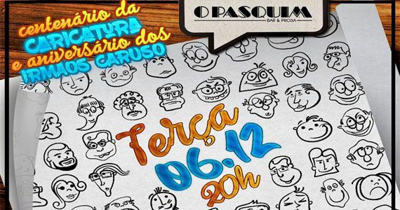 Comemoração dos 100 anos de Caricatura no Brasil com convidados no Pasquim Bar & Prosa Eventos BaresSP 570x300 imagem