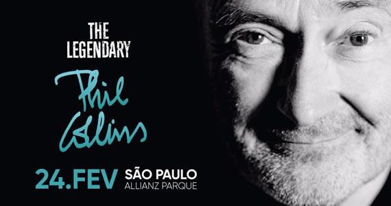 Cantor britânico Phill Collins se apresenta no Allianz Parque em fevereiro