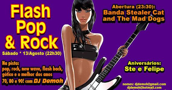 Festa Flash Pop e Rock anima o sábado com DJ Demoh no Poison Bar e Balada Eventos BaresSP 570x300 imagem