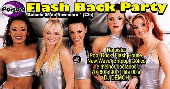 Flash Back Party com DJ Demoh nas pick-ups animando o Poison Bar e Balada Eventos BaresSP 570x300 imagem